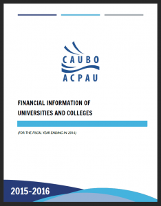 Financial Information of Universities and Colleges report