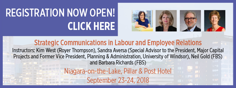 Strategic Communications in Labour and Employee Relations