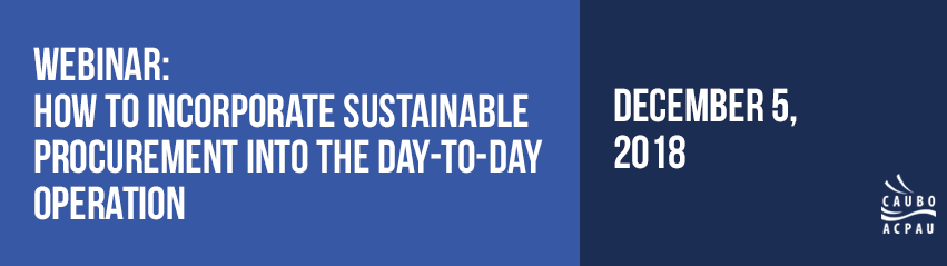 How to incorporate sustainable procurement into the day-to-day operation: A Procurement Management Perspective